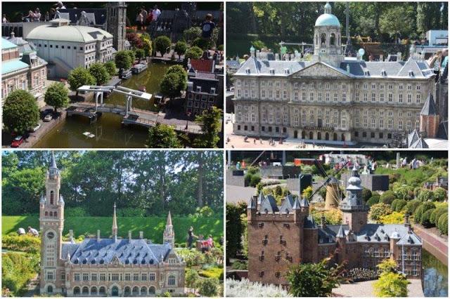 21 Teatro Carré de Amsterdam – 33 Palacio Real de Amsterdam - 51 Palacio Internacional de la Paz de La Haya – 47 Castillo Nijenrode de Breukelen en el parque Madurodam en La Haya Den Haag