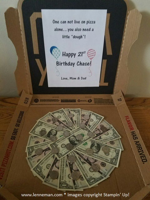 Dena Lenneman Stampin Up Demonstrator Money Pizza For