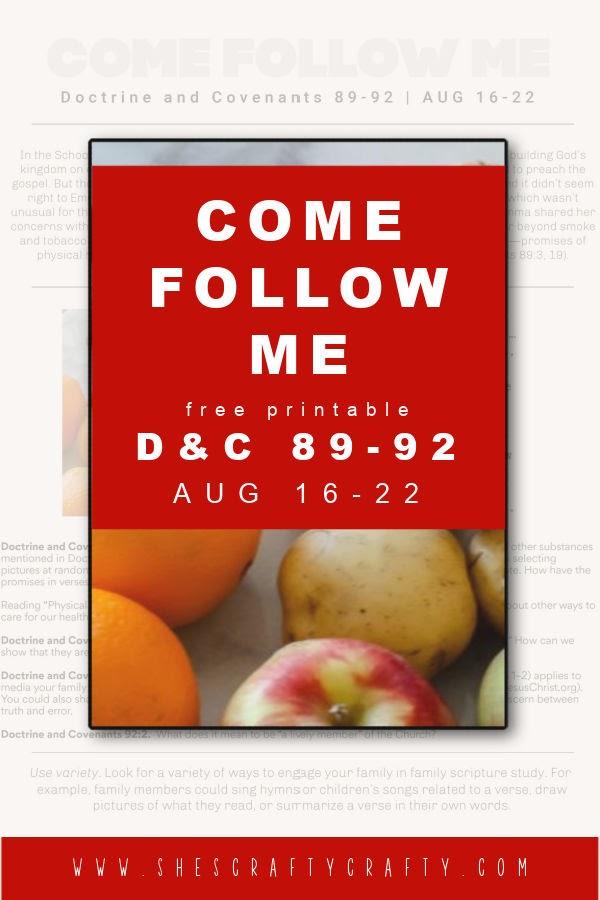 Come Follow Me Free Printable Aug 16 Pinterest Pin.