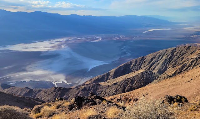 View of salt flats and badwater basin from Dantes view
