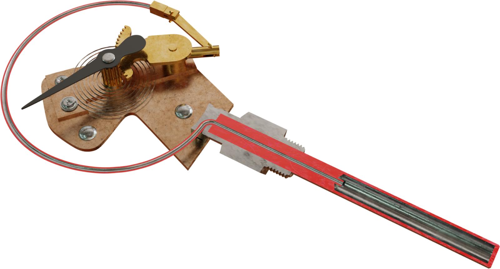 Memotong termometer yang diisi gas (termometer gas-dalam-logam)