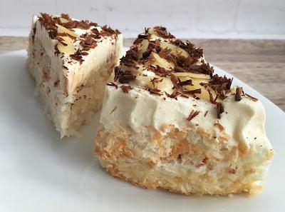 Ciasto z wiórków kokosowych z kremem