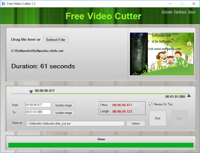 برنامج لتقطيع الفيديو