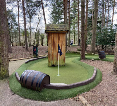 Adventure Golf at Center Parcs Elveden Forest, Norfolk. Photo by Christopher Gottfried March 2020