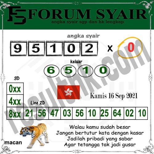 Forum syair hk Kamis 16 September 2021