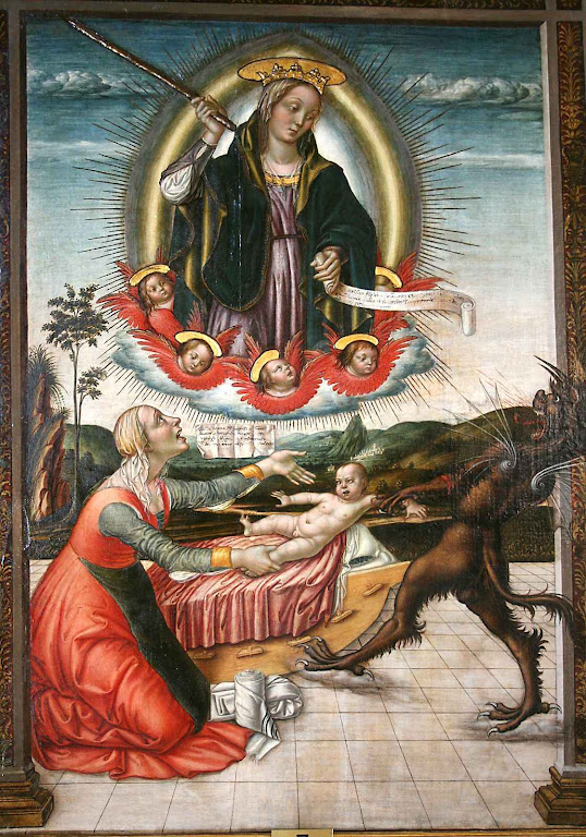 Madonna del Soccorso (Nossa Senhora do Socorro), Nicolò Alunno (1430 – 1502), Galleria Colonna, Roma