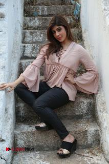 Telugu Actress Aditi Singh Stills in Leather Pants at Nenu Kidnap Iyanu Movie Press Meet  0229.JPG