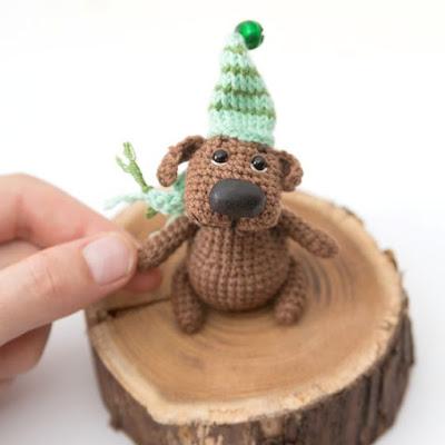 Песик игрушка крючком амигуруми
