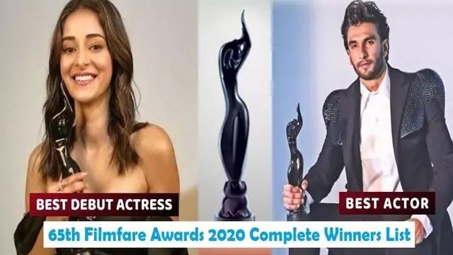 65th Filmfare Awards 2020 Complete Winners List - Uslis
