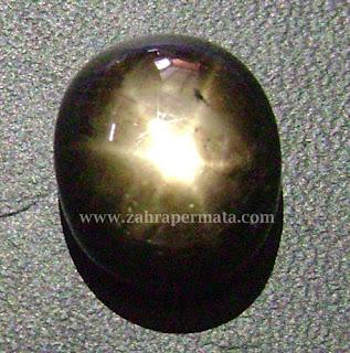 Batu Permata Black Saphire Star - ZP 435