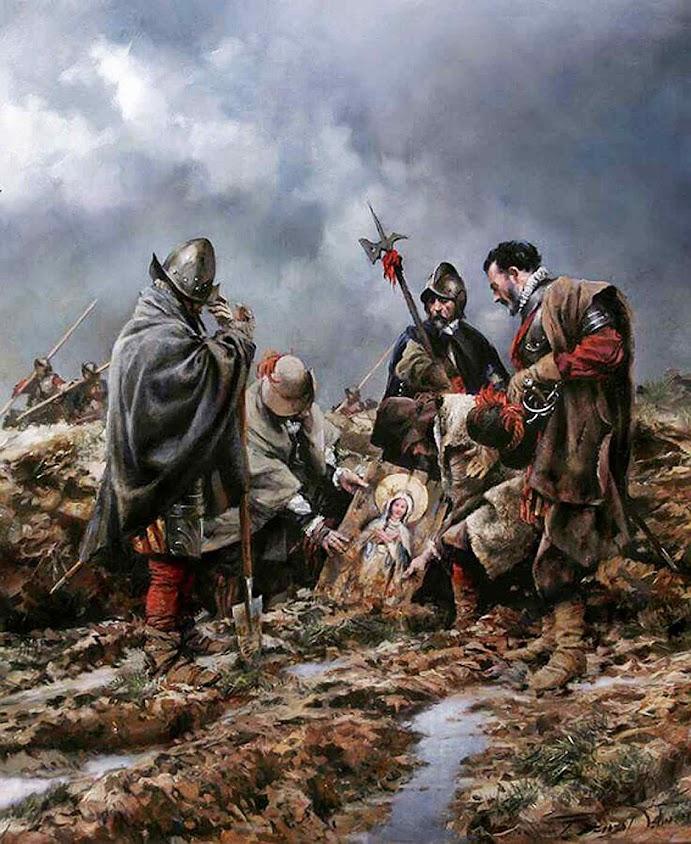 O achado miraculoso que inverteu a batalha de Empel. Detalhe de Augusto Ferrer-Dalmau (1964 - ) FD Magazine