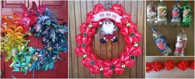 coronas-navideñas-botellas-recicladas