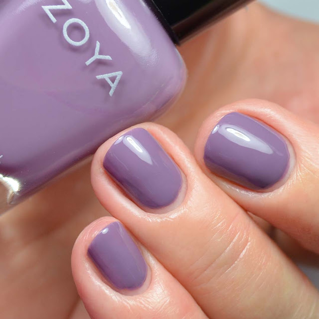 grape creme nail polish swatch
