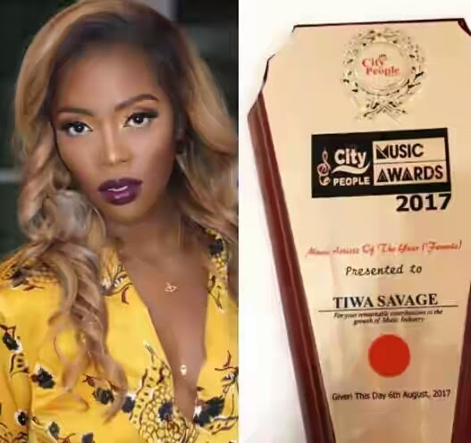 Dash Media: Tiwa Savage: Outfit To City People Music Award Is Wow