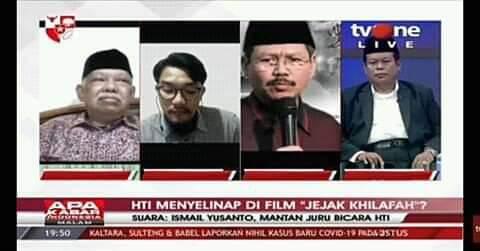 "Dalam Acara Apa Kabar Indonesia Malam, TVOne,Kamis 27 Agustus 2020, host bertanya, ""Buat publik, film ini ada yang terselip propaganda HTI bukan dengan fakta sejarah Pak Ismail Yusanto?"""
