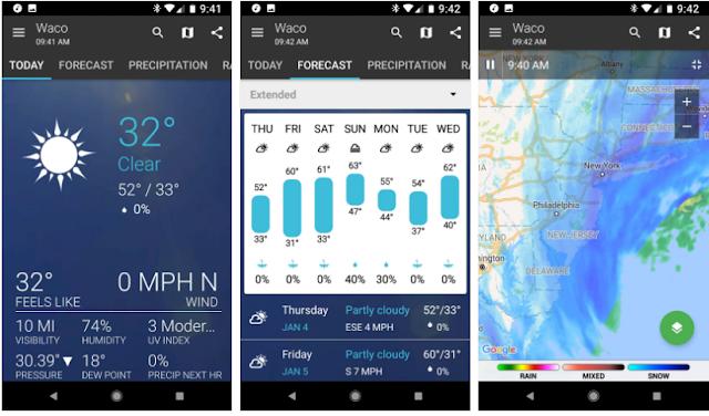 5 Aplikasi Cuaca Terbaik Untuk Smartphone Android