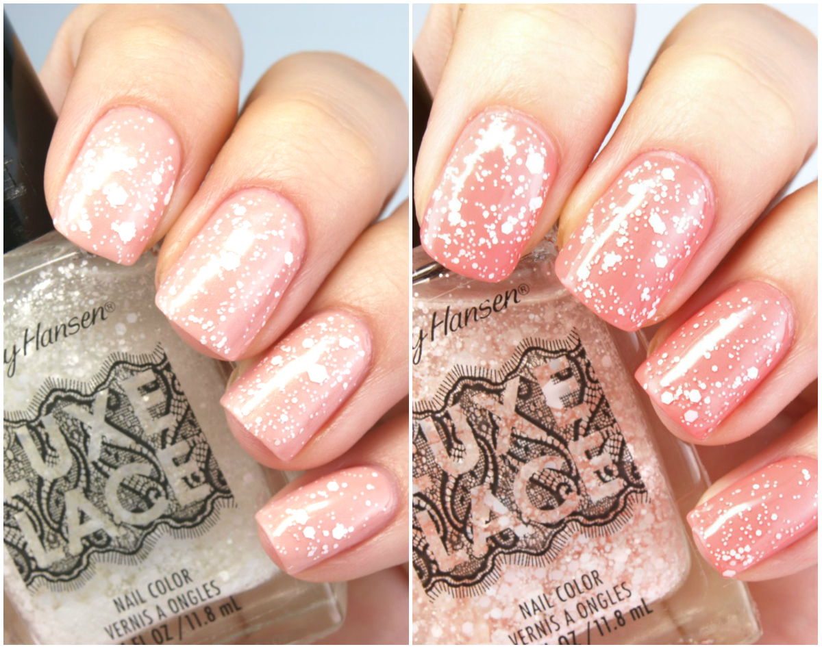 sally hansen luxe lace glitter top coat for spring 2015 review and
