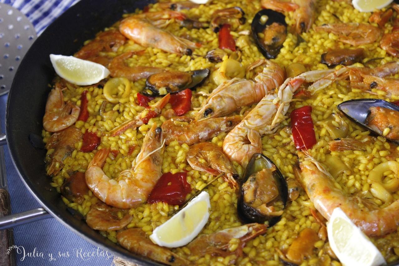 Julia Y Sus Recetas Paella De Marisco