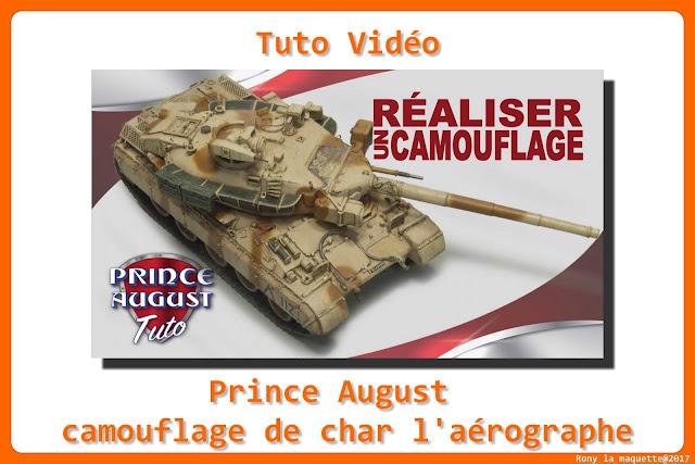 Tuto vidéo, Réaliser un camouflage de char à l'aérographe.