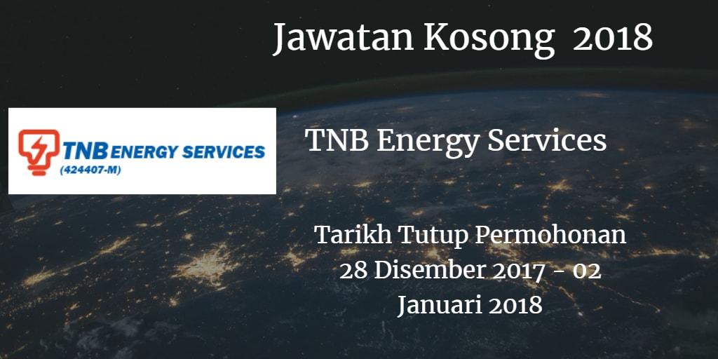 Jawatan Kosong TNBES 28 Disember 2017 - 02 Januari 2018