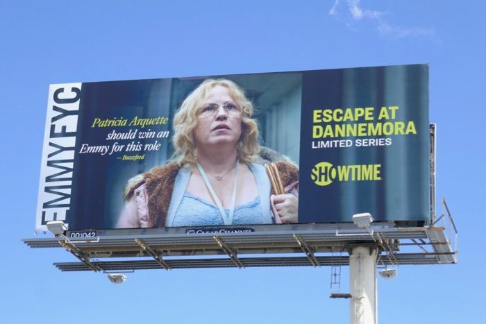 Patricia Arquette Escape at Dannemora Emmy FYC billboard