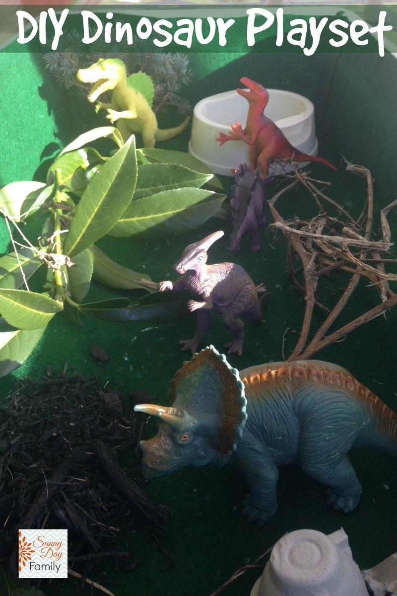 DIY Dinosaur Habitat Playset