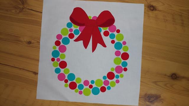 Christmas wreath quilt block