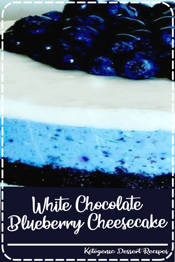 it has been so HOT lately here in San Diego White Chocolate Blueberry Cheesecake