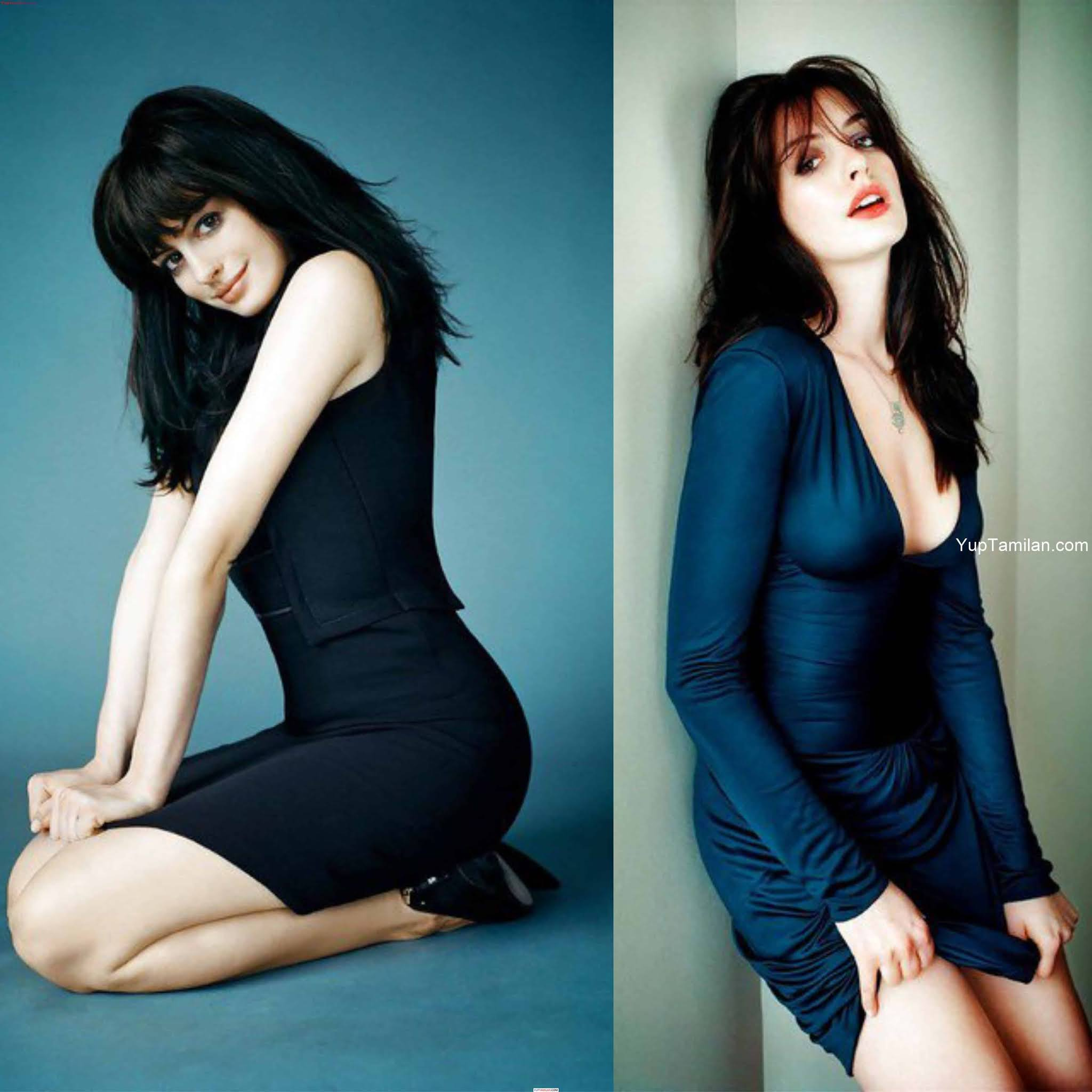 Anne Hathaway's Hot and Sexy Cleavage Photos