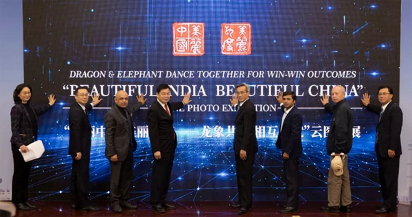 "Image Attribute: The ""Beautiful India Beautiful China"" online photo exhibition, themed ""Dragon and Elephant Dance Together for Win-win Outcomes,"" is launched in Beijing on Tuesday. / Source: China-India Dialogue"