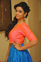 Nithya Shetty in Orange Choli at Kalamandir Foundation 7th anniversary Celebrations ~  Actress Galleries 079.JPG