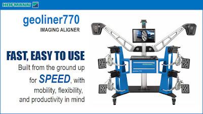 Máy kiểm tra góc đặt bánh xe kiểu Robot Geoliner 770