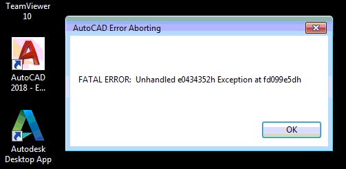 autocad error