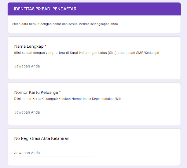 Langkah Pendaftaran PPDB Daring 2020