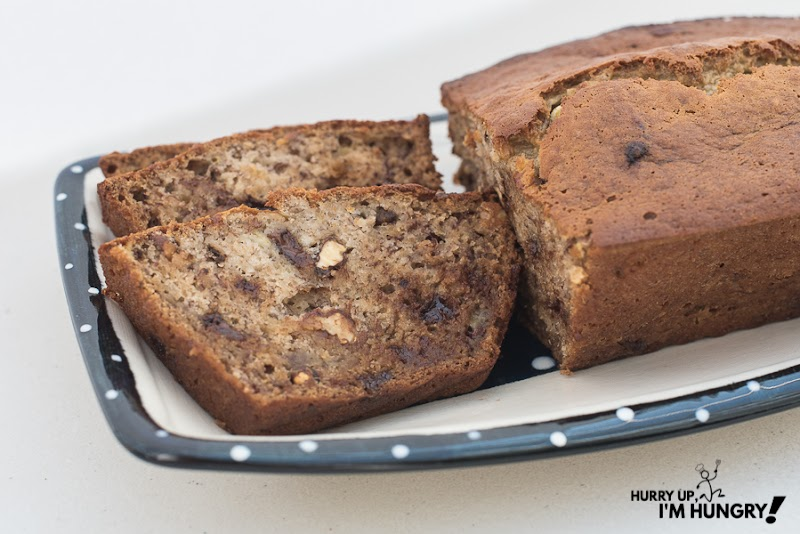 Ridiculously Easy Banana Bread {With Nuts & Chocolate Chips}