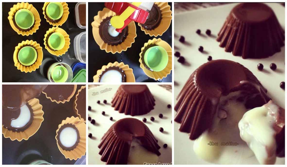 Puding Coklat Isi Vla