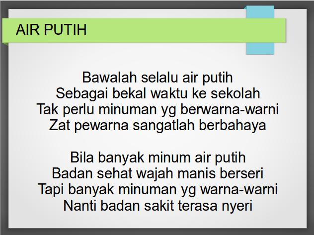 Air Putih – Download Video Lagu Anak Indonesia