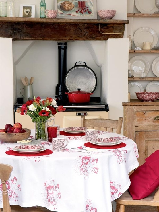 Lady Anne S Cottage Charming Country Red And White