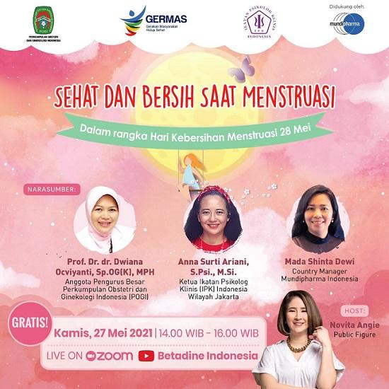 webinar 'Sehat dan Bersih Saat Menstruasi'