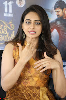 Rakul Preet Singh smiling Beautyin Brown Deep neck Sleeveless Gown at her interview 2.8.17 ~  Exclusive Celebrities Galleries 030.JPG