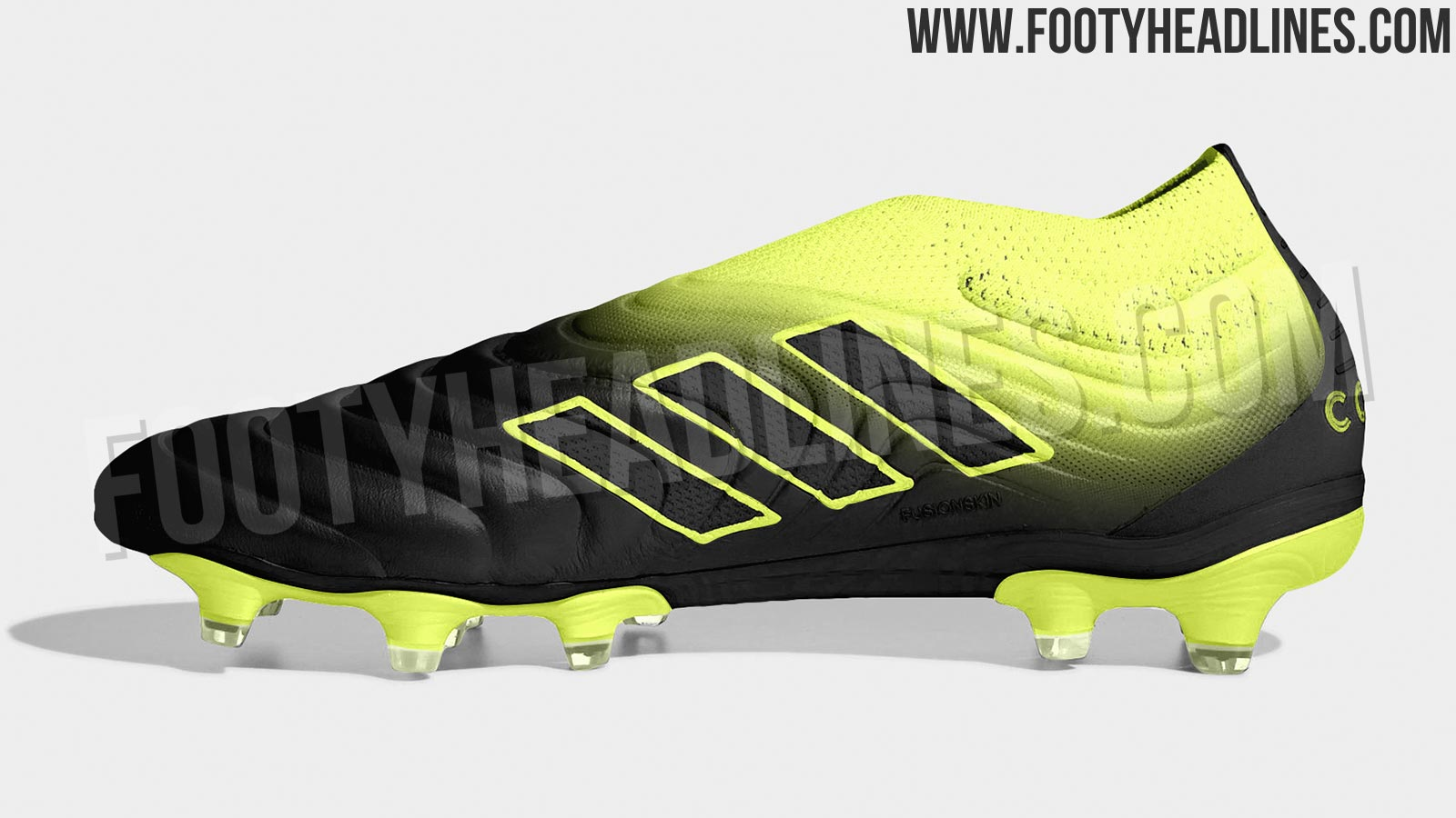 watch 87abf f116f Adidas will bring out a black and yellow Adidas Copa 19 soccer shoe in late  January  early February as part of the so-called Exhibit Pack.