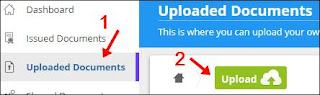 1st click uploaded document 2nd click upload