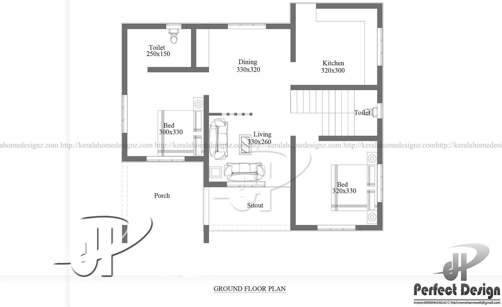 Ground Floor Plan With Dimensions In Meters