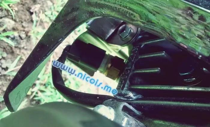 Tampilan O2 sensor pada mesin New Supra X 125 FI 2014