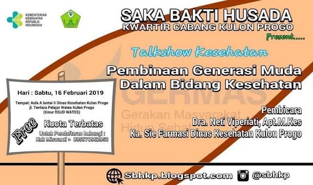 Talkshow Kesehatan Saka Bakti Husada 2019