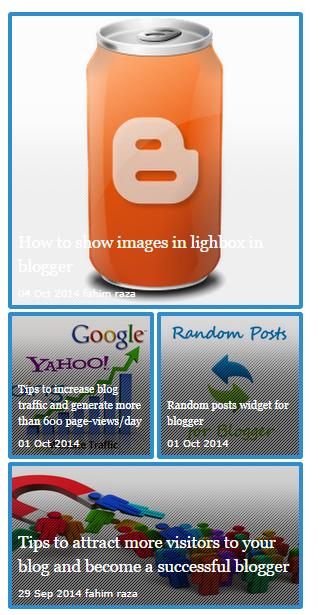 Content slider widget for blogger