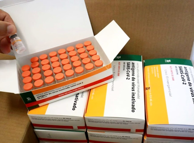 Butantan entrega 1,1 milhão de doses da CoronaVac e paralisa produção