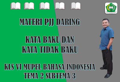 Materi Bahasa Indonesia Kelas VI Tema 2 Subtema 3 - Kata Baku dan Kata Tidak Baku
