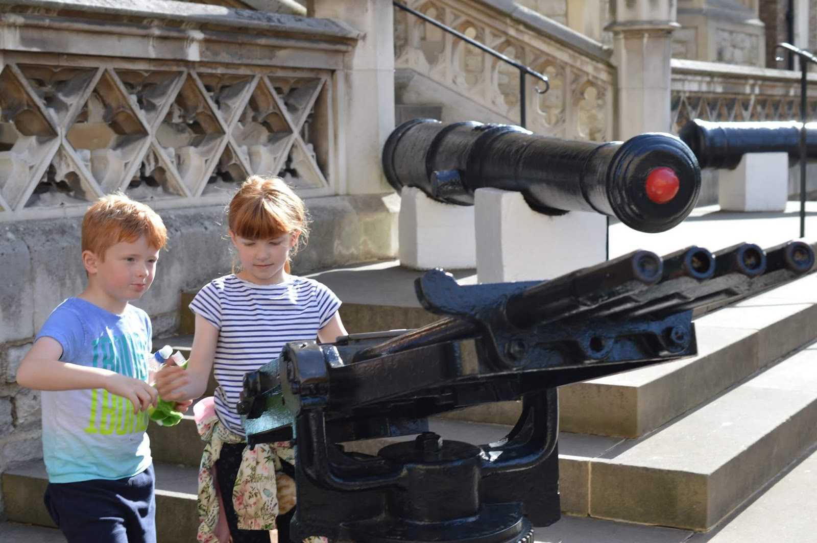 The LNER Family Return Ticket Newcastle-London. #OurLNER #FamilyReturn  - cannons at the Tower of London