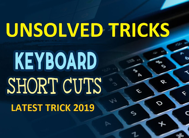 Useful Keyboard Shortcuts for Windows Computers Latest Trick 2019 Cover Photo